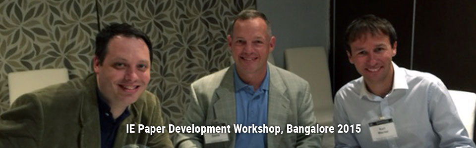 IE Paper Development Workshop, Bangalore 2015