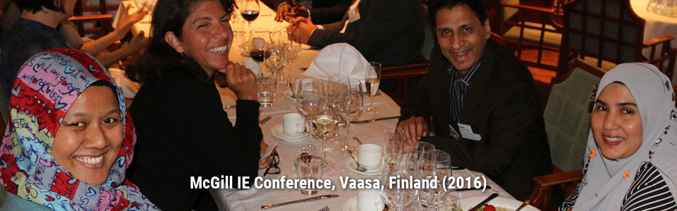 McGill IE Conference, Vaasa, Finland (2016)