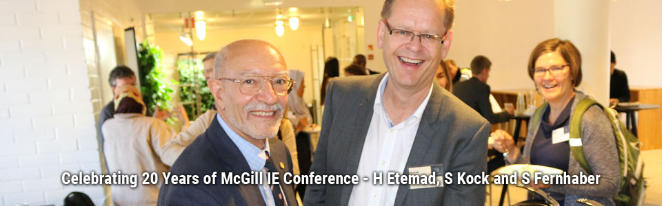 Celebrating 20 Years of McGill IE Conference - H Etemad, S Kock and S Fernhaber